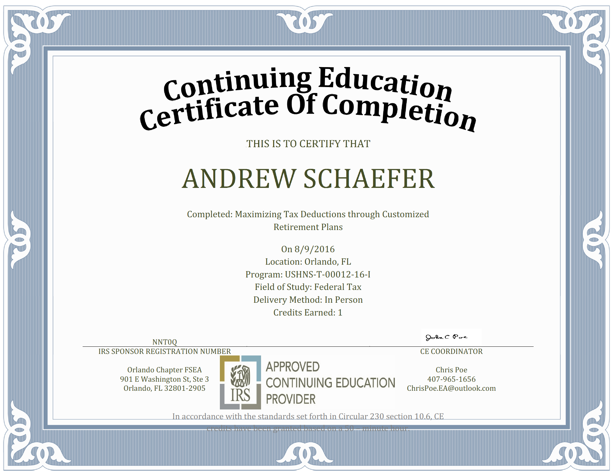 Ceu Certificate Of Completion Template Sample With Continuing Education Certificate Template