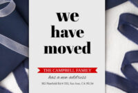 Change Of Address Cards Moving Announcement Download Printable New Address  New Home Card We've Moved Moving Cards Pdf 5X7 within Moving Home Cards Template