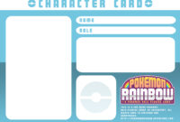 Character Card Templatery-Spirit On Deviantart throughout Pokemon Trainer Card Template