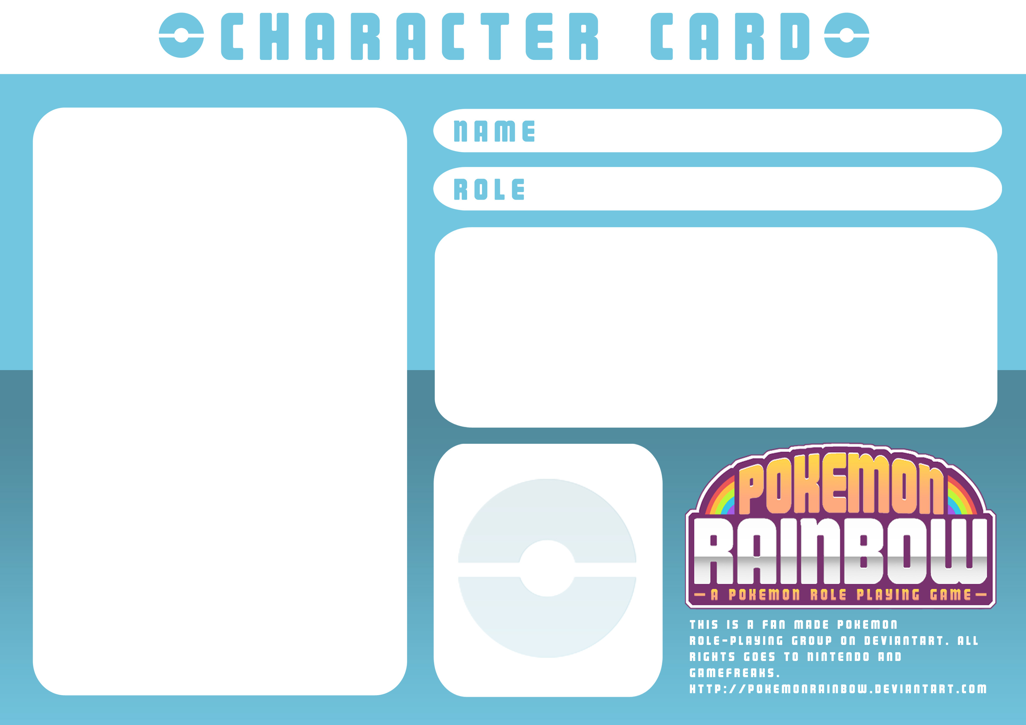 Character Card Templatery Spirit On Deviantart Throughout Pokemon Trainer Card Template