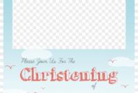 Christening Png Free – Baptism Invitation Template Png inside Blank Christening Invitation Templates