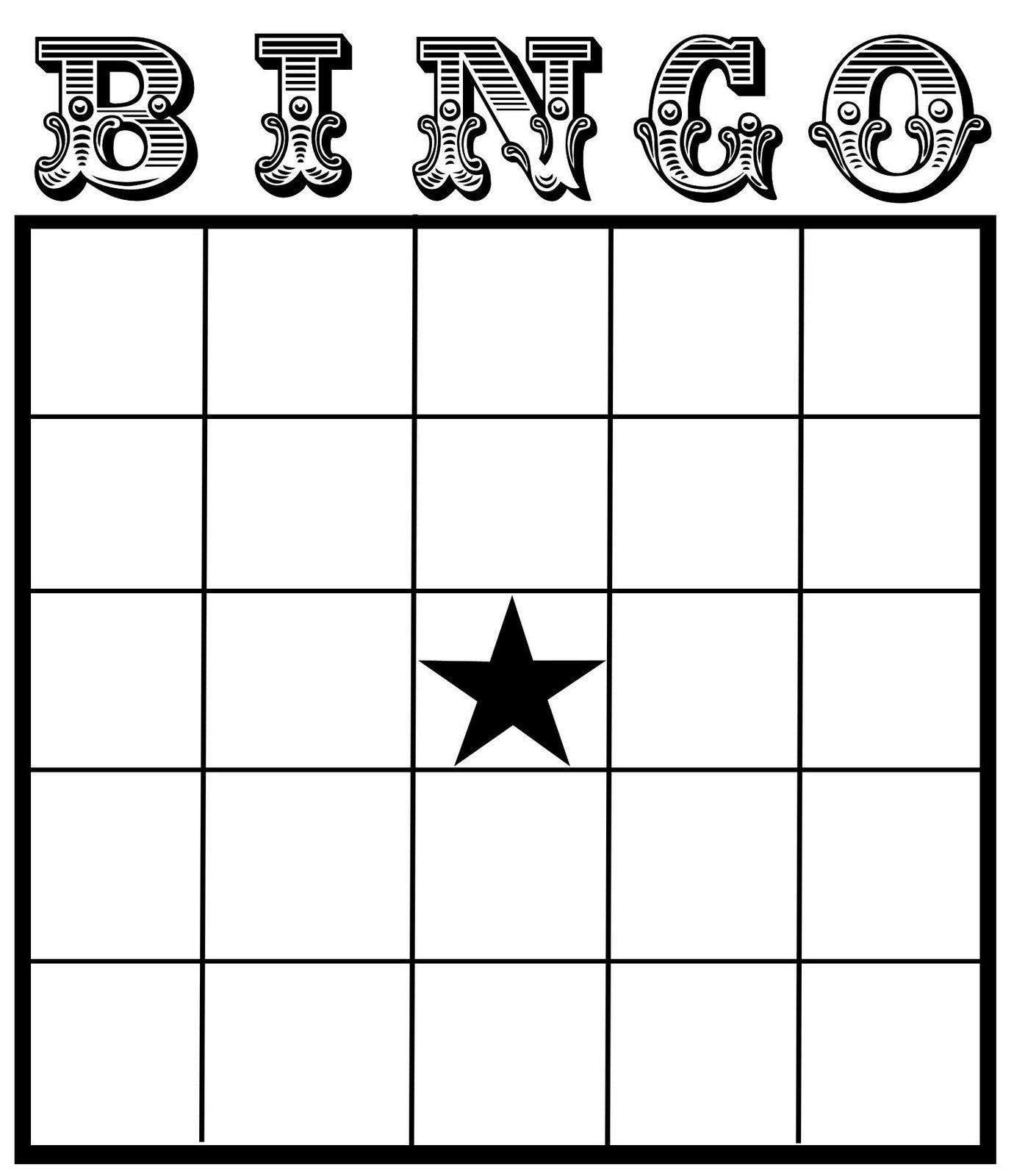 Christine Zani: Bingo Card Printables To Share | Reading For Blank Bingo Template Pdf