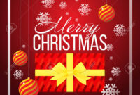 Christmas Banner Template Background With Merry Christmas Greeting.. inside Merry Christmas Banner Template