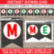 Christmas Chalkboard Banner Template – Red & Green Intended For Merry Christmas Banner Template