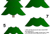 Christmas Tree | 3-D Decoupage | Christmas Tree Template for 3D Christmas Tree Card Template