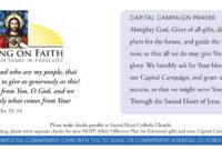 Church Capital Campaign Pledge Card Samples for Pledge Card Template For Church