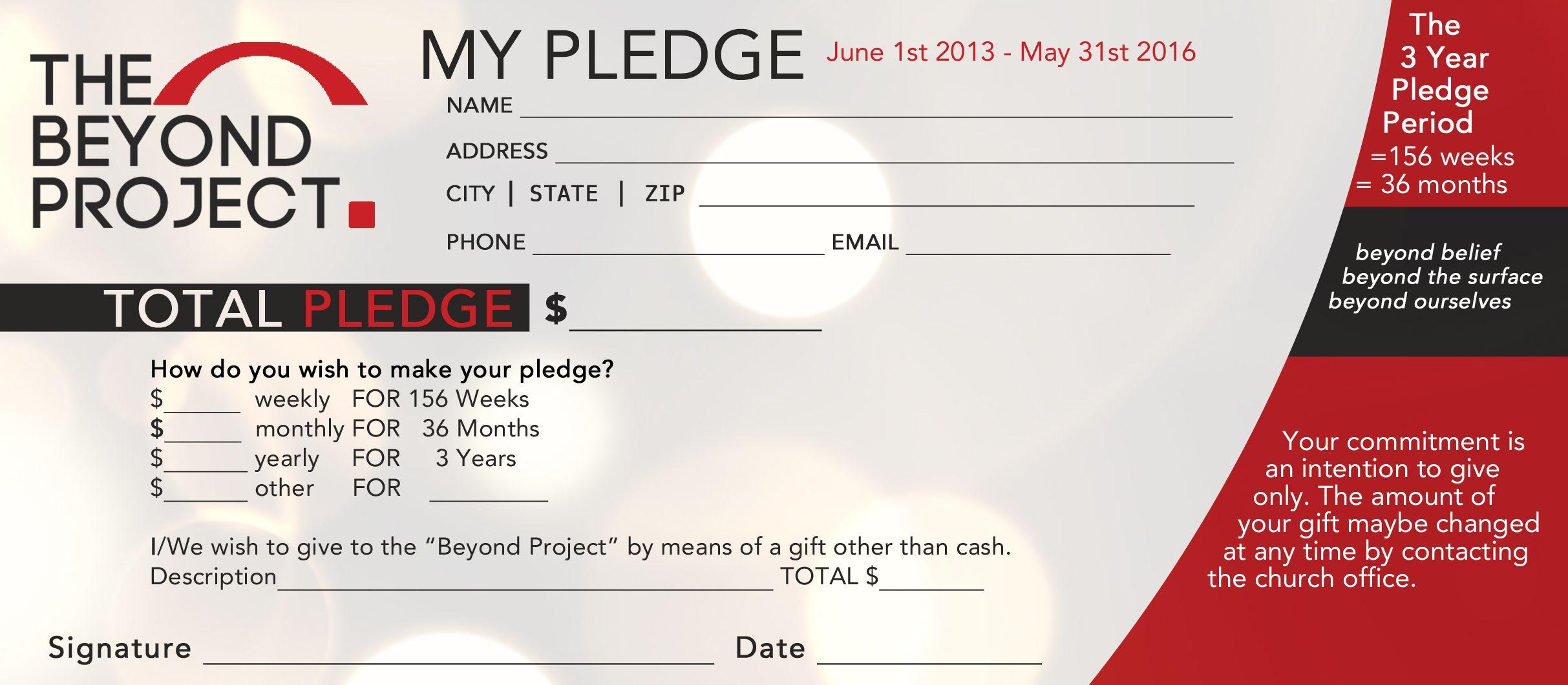 Church Pledge Form Template Hausn3Uc   Capital Campaign With Regard To Pledge Card Template For Church