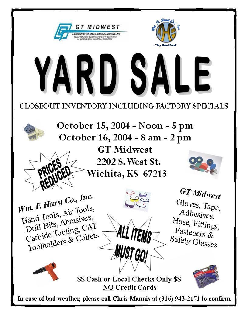 Church Yard Sale Flyer | Gt Midwest: Garage Sale | Projects In Garage Sale Flyer Template Word