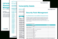 Cip-010 R3 Vulnerability Assessment And Patch Management in Reliability Report Template