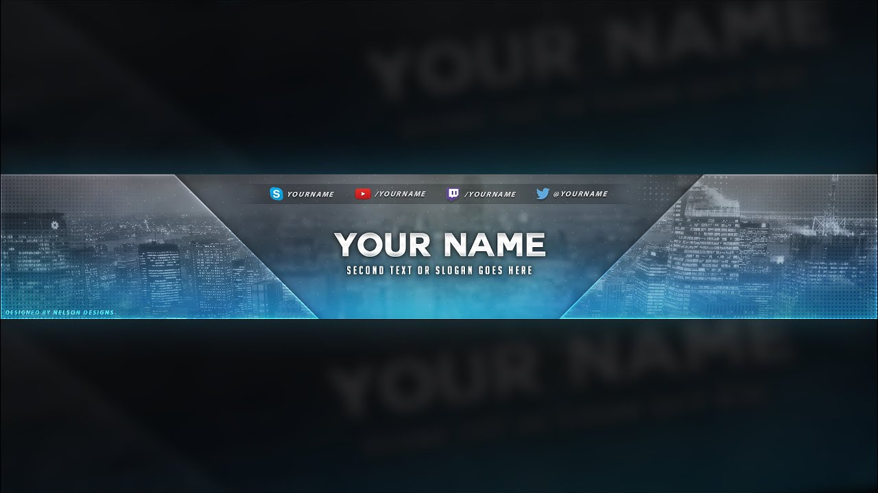 City Themed Youtube Banner Template - Free Download [Psd] Intended For Youtube Banners Template