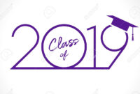 Class Of 20 19 Year Graduation Banner, Awards Concept. T-Shirt.. intended for Graduation Banner Template