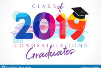 Class Of 2019 Year Graduation Banner, Awards Concept Stock intended for Graduation Banner Template