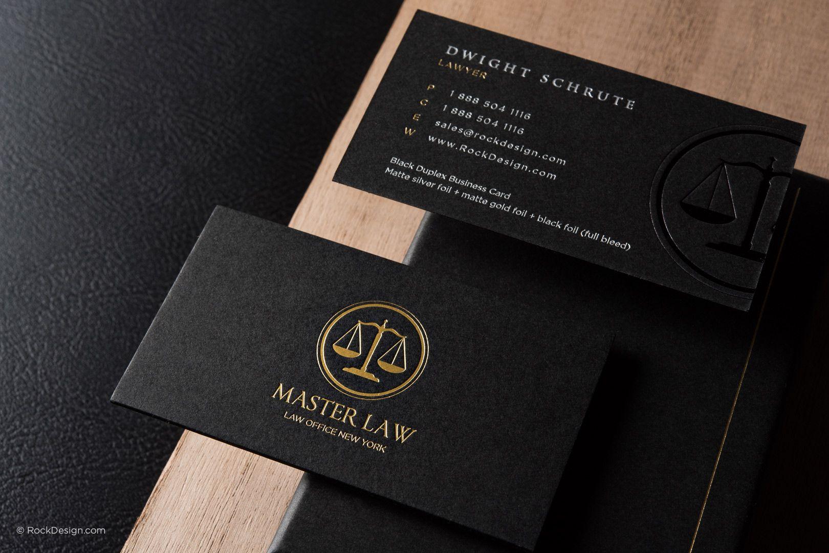 Classic Modern Black Duplex Attorney Business Card Template Regarding Lawyer Business Cards Templates