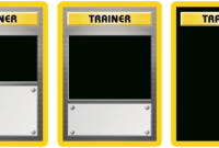 Classic Trainer With Expanded- And Full-Art Blanks for Pokemon Trainer Card Template