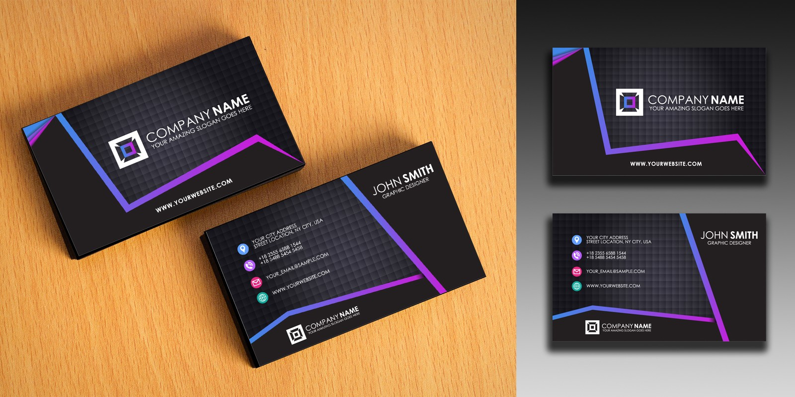 Clean And Simple Business Card Template With Regard To Buisness Card Templates