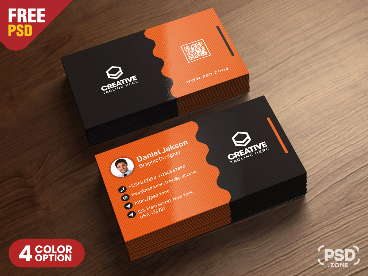 Clean Business Card Psd Templates - Psd Zone For Calling Card Psd Template