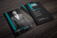 Clean, Dark Exit Realty Business Card Design For Realtors with Real Estate Agent Business Card Template