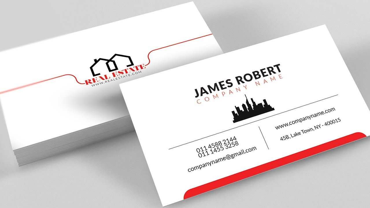 Clean Illustrator Business Card Design With Free Template Download In Visiting Card Illustrator Templates Download