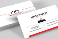 Clean Illustrator Business Card Design With Free Template Download with Adobe Illustrator Business Card Template