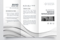 Clean Minimal Trifold Brochure Template Layout With Regard To Cleaning Brochure Templates Free
