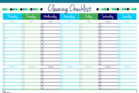 Cleaning Checklist {Free Printable} In Blank Cleaning Schedule Template