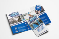 Cleaning Service Trifold Brochure Template In Psd, Ai Inside with Commercial Cleaning Brochure Templates
