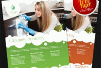 Cleaning Services – Free Flyer Psd Template For Cleaning Brochure Templates Free