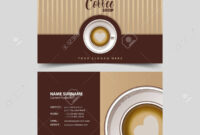 Coffee Shop Business Card Design Template. in Coffee Business Card Template Free