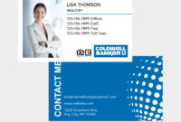 Coldwell Banker Business Cards Pertaining To Coldwell Banker Business Card Template