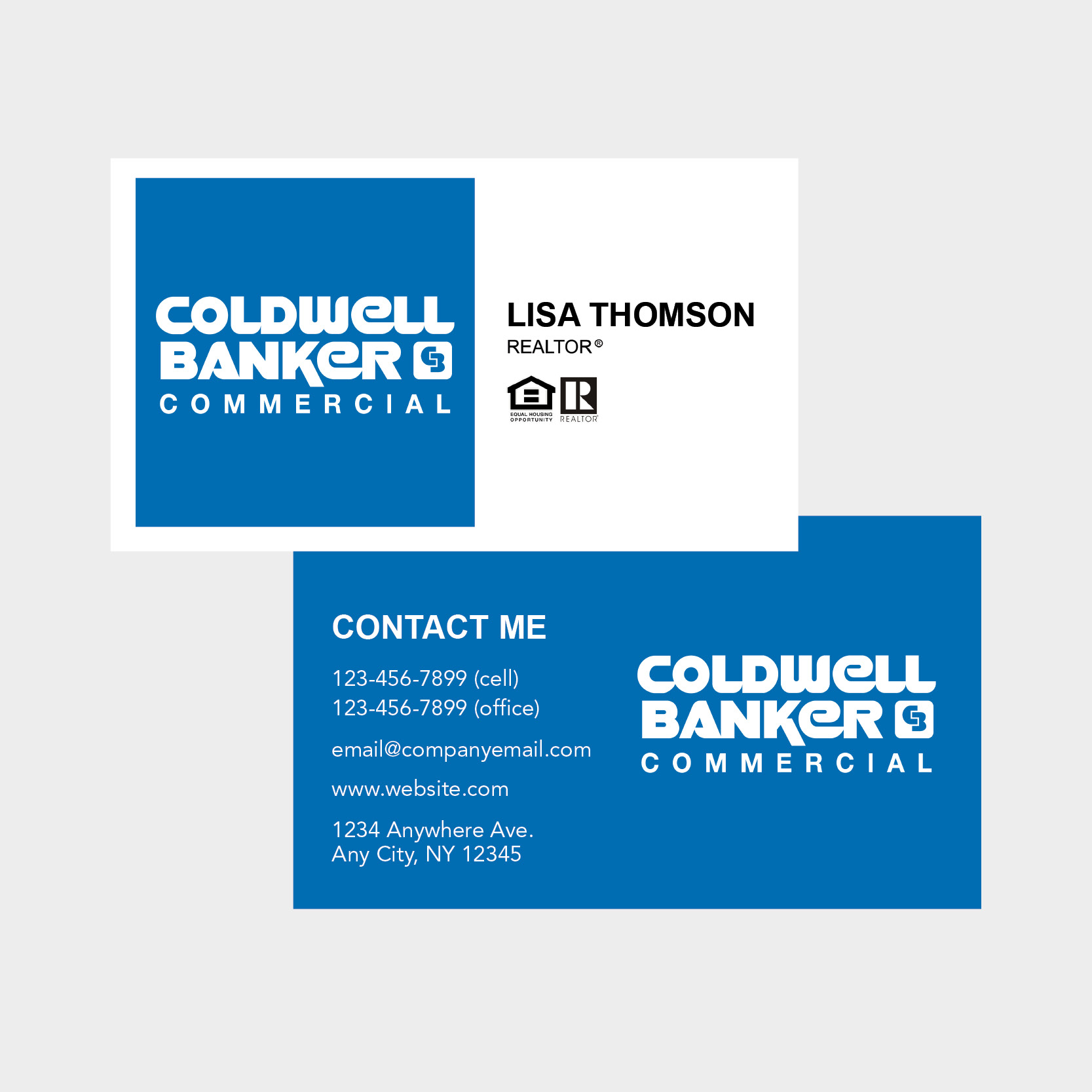 Coldwell Banker Business Cards With Coldwell Banker Business Card Template