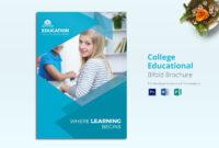 College Educational Brochure Template throughout Brochure Design Templates For Education