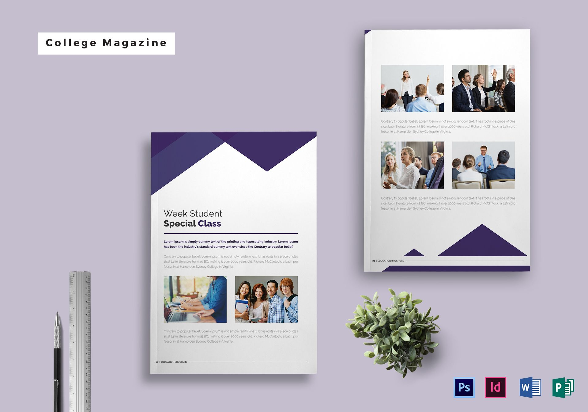 College Magazine Template Pertaining To Magazine Ad Template Throughout Magazine Ad Template Word