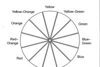 Color Wheel Worksheet Printable   Life Skills In 2019 within Blank Color Wheel Template