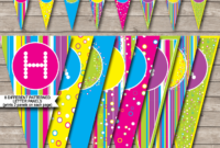 Colorful Banner Template within Diy Birthday Banner Template