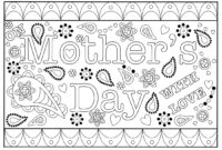 Colouring Mothers Day Card Free Printable Template regarding Mothers Day Card Templates
