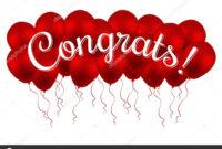 Congrats! Congratulations Vector Banner With Balloons And intended for Congratulations Banner Template