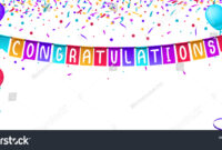 Congratulations Banner Template Balloons Confetti Isolated throughout Congratulations Banner Template