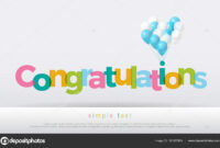Congratulations Colorful Balloons White Background with regard to Congratulations Banner Template