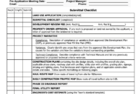 Construction Documents (Cds) Checklist for Drainage Report Template