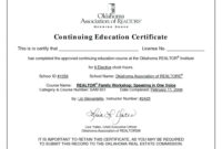 Continuing Education Certificate Template | Free Download regarding Ceu Certificate Template