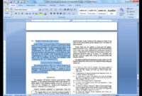 Convert A Paper Into Ieee – Quick Conversion Guide Inside Template For Ieee Paper Format In Word