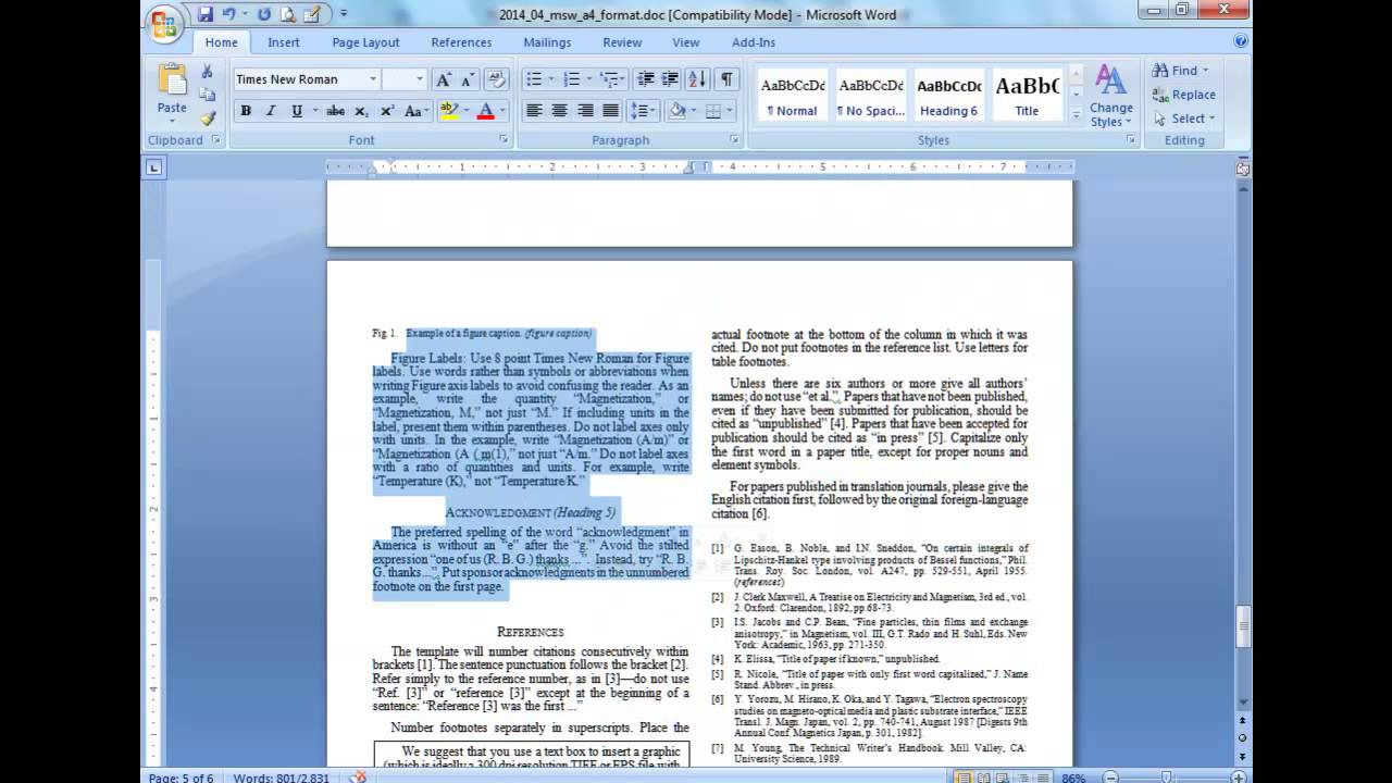 Convert A Paper Into Ieee - Quick Conversion Guide Pertaining To Ieee Template Word 2007