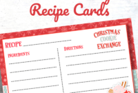 Cookie Exchange Recipe Card Template – Atlantaauctionco throughout Cookie Exchange Recipe Card Template