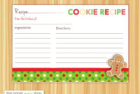 Cookie Exchange Recipe Card Template – Atlantaauctionco with Cookie Exchange Recipe Card Template