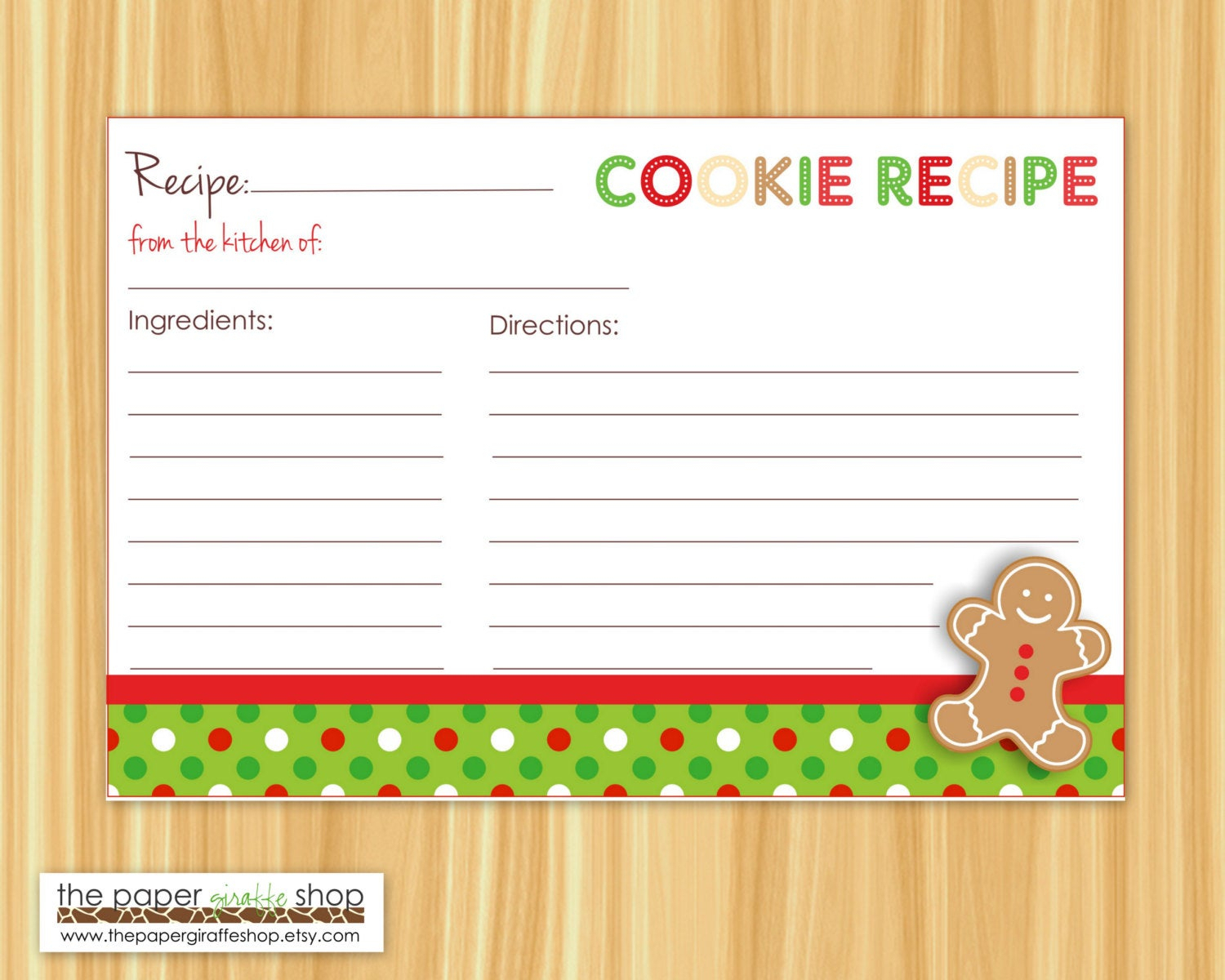 Cookie Exchange Recipe Card Template - Atlantaauctionco With Cookie Exchange Recipe Card Template
