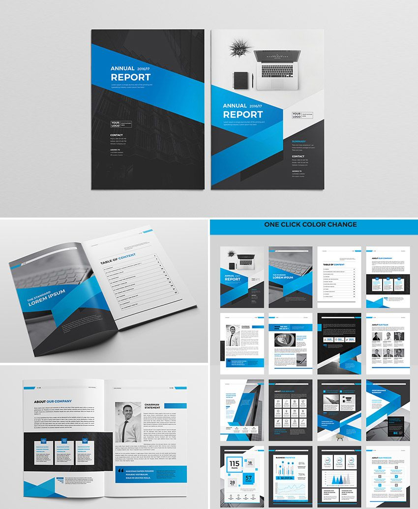 Cool Indesign Annual Corporate Report Template | Report Intended For Free Indesign Report Templates