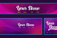 Cool Youtube Banner Template Banner, Facebook Cover, Avatar ( Psd ) Free  2016 with Facebook Banner Template Psd
