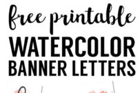 Coral Watercolor Banner Free Printable | Diy // Projects inside Free Bridal Shower Banner Template
