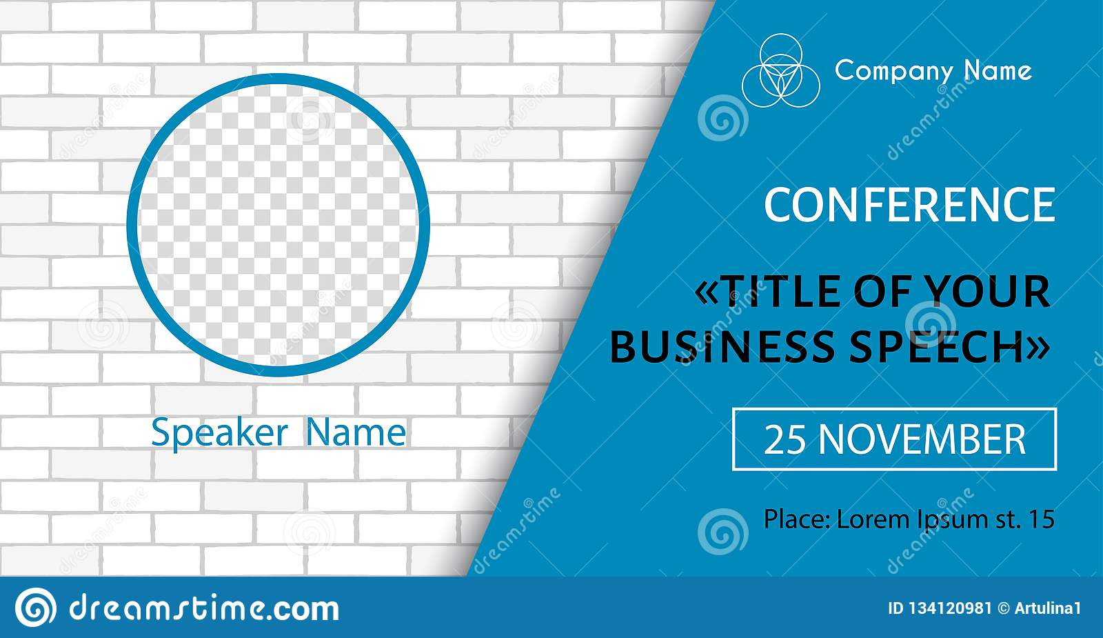 Corporate Announcement Poster Template. Vector Flyer For In Event Banner Template