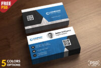 Corporate Business Card Free Psd Template – Download Psd pertaining to Calling Card Psd Template